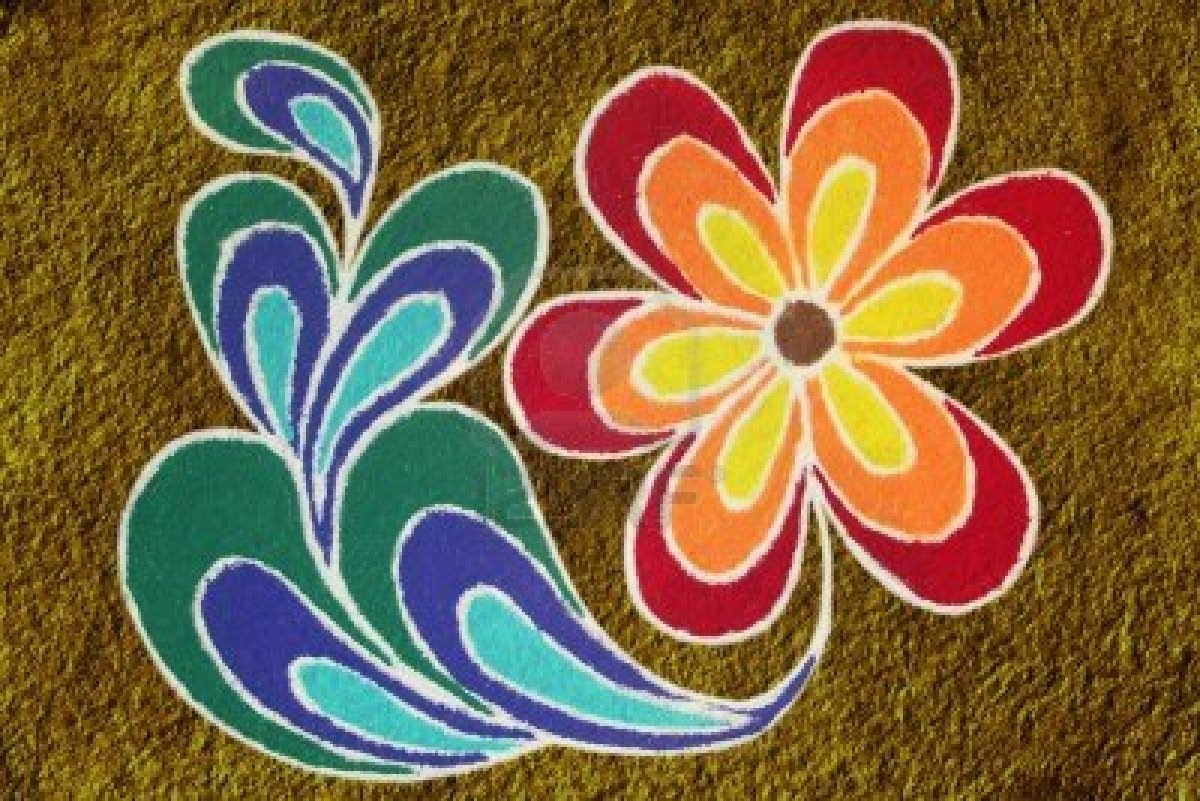 Peacock Rangoli Designs for Diwali - Rangoli | Rangoli ...