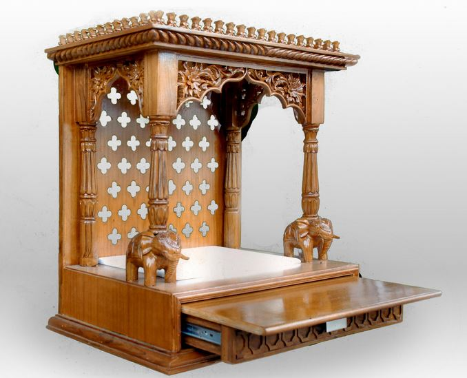 Get this small pooja mandir for your house This is an open mandir