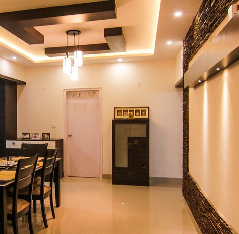 Pooja room designs in hall pooja room home temple for Hall design for small house