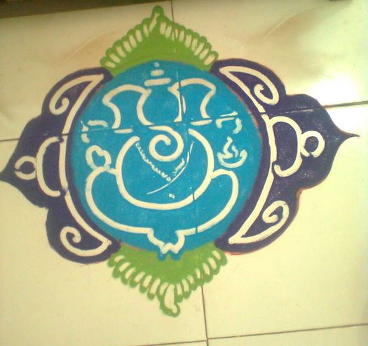 Ganesh Rangoli Designs for Diwali - Rangoli Designs